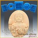 Silicone Food Grade Chocolate/Fondant Mold –Buddha with Lotus – Oval