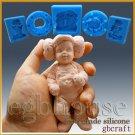 3D Silicone Sugar/fondant/chocolate Mold-Lifelike Baby Neo w/Princess Leia Hat
