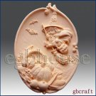 2D Silicone Soap Mold - Baby Witch on a Broom - Free Shipping