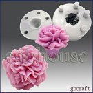 3D Silicone Guest Soap/Candle Mold - Carnation - Free shipping