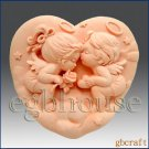 2D Silicone Soap Mold - Angel Heart Couple