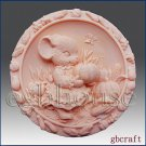 2D Silicone Soap Mold-Country Pumpkin Mouse - Free Shipping