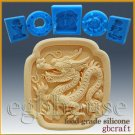 2D Food Grade Silicone Chocolate mold / Push Mold - Oriental Zodiac - Dragon