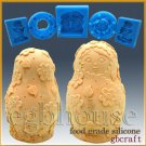 3D Silicone Soap/sugar/fondant/chocolate Mold–Russian Nesting Doll with Flowers