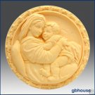 Silicone Soap Mold – Mother with Child on Lap – Round