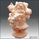 3D Silicone Soap/Candle Mold - Santa carries Gift Bag (2 parts assembled)