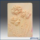 2D Silicone Soap Mold – Carnation Garden