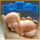 3D Silicone Soap/sugar/fondant/chocolat Mold-Lifelike Baby Johan Dozing Off
