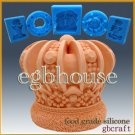 3D Silicone Soap/sugar/fondant/chocolate Mold - imperial crown - 2 parts mold