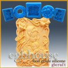 2D Silicone Soap/sugar/fondant/chocolate Mold - mother and child in lily garden