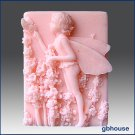 Silicone Soap Mold - 2D Lavendar Boy Gerard - Fairy