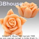 3D Tea Rose - Silicone soap/chocolate Mold-2 parts mold