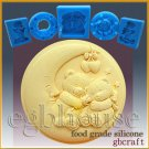 2D Silicone Soap/sugar/fondant/chocolate Mold – Nighty Night Teddy Bears