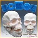 3D Silicone Soap/sugar/fondant/chocolat Mold-Scary Skeleton Head-free shipping