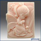 """2D Silicone Soap Mold """"Now I Lay Me Down to Sleep"""" Girl"""