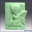 "2D Silicone Soap Mold ""Now I Lay Me Down to Sleep""Boy"