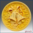 2D Silicone Soap Mold - Christmas Jingle Bells
