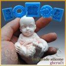3D Silicone Soap/sugar craft/fondant/chocolat Mold-Baby having fun-free shipping