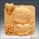 2D Silicone Soap Mold – Hearts & Roses – Girl