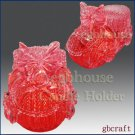 3D Crochet Shoe Candle Holder - Red - Free Shipping