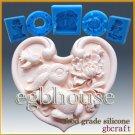 2D Silicone Soap/sugar/fondant/chocolate Mold - Oriental Zodiac Sign - Rabbit