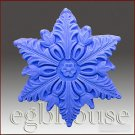 2D silicone Soap/polymer/clay/cold porcelain mold – Snowflake #4