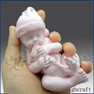 3D Silicone Soap/plaster/clay Mold-Lifelike Baby Dell (2 parts assembled mold)