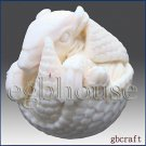3D silicone Soap/polymer/clay/cold porcelain/Candle mold-Armadillo(2 parts mold)