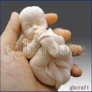 Lifelike Baby Sucking on its toes(2 Parts Mold)- 3d Silicone Soap/clay Mold