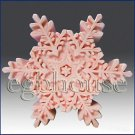 2D Silicone Soap/plaster/clay/cold porcelain Mold-Snowflake No 14