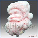 Joy Santa - Soap/candle/polymer/clay/cold Porcelain 2d Silicone Mold