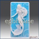 2D Silicone Soap/Polymer Clay/Cold Porcelain Clay/Plaster Mold - Mermaid Marie