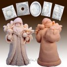 Santa W/robe Carrying Bag-Silicone Soap/sugar/fondant/chocolate/marzipan 3d Mold