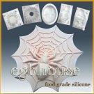 2D silicone sugar/fondant/chocolate  mold-Spider on Web