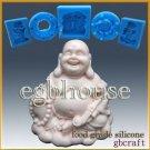 2D Silicone Soap/sugar/fondant Mold - Laughing Buddha - from original designer