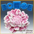 3D Silicone sugar/fondant/chocolate Mold-Charming Peony-(2parts)-from designer