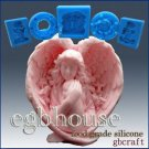 3D Silicone Food Grade Mold - Mother Angel holds her Baby Tight-2 part-assemble
