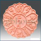 2D silicone Soap/polymer/clay/cold porcelain mo - Mani Lotus with Tibetan prayer