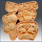 2D Silicone Soap Mold - Great Fortune Character