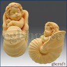 Baby in Nautilus Cradle - 3D - Soap/Candle/Plaster/Clay silicone mold