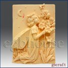 2D silicone Soap/polymer/clay mold – Prilla, Fairy of Evening Prayers