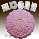 Wealth and Auspice-2D Silicone Soap/sugar/fondant/chocolate/cookie/Marzipan Mold