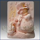 Symphonic Snowman-2D silicone Soap/Guest/polymer/clay/cold porcelain/Candle mold