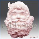 Santa Plaque- Soap/Candle/polymer/clay/cold porcelain 2D Silicone mold