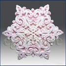 Snowflake no 12 -Soap/polymer/clay/cold porcelain 2d Silicone mold