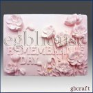 2D silicone Soap/polymer/clay/cold porcelain/plaster mold- Remembrance Day