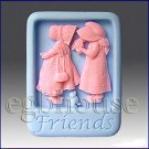 2D silicone Soap/polymer/clay/cold porcelain mold - Friends