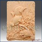 Tropical Fishes - 2d Silicone Soap/polymer/clay/cold Porcelain Mold
