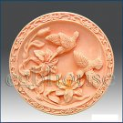 Garden~Lily with classic frame-2D silicone Soap/polymer/clay/cold porcelain mold