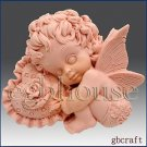 2D silicone Soap/Guest/polymer/clay/cold porcelain mold-Valentine Angel Boy set2